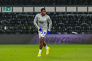 Cardiff City forward Sheyi Ojo (27) in the warm up during the EFL Sky Bet Championship match between Derby County and Cardiff City at the Pride Park, Derby, England on 28 October 2020.
