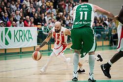 Filip Covic of Crvena zvezda during basketball match between KK Krka and KK Crvena zvezda MTS in Round #14 of ABA League 2018/19, on January 4, 2018 in Arena Leona Stuklja, Novo mesto, Slovenia. Photo by Vid Ponikvar / Sportida