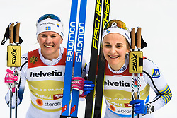 February 24, 2019 - Seefeld In Tirol, AUSTRIA - 190224 Maja Dahlqvist of Sweden and Stina Nilsson of Sweden celebrates after women's team sprint final during the FIS Nordic World Ski Championships on February 24, 2019 in Seefeld in Tirol..Photo: Joel Marklund / BILDBYRN / kod JM / 87888 (Credit Image: © Joel Marklund/Bildbyran via ZUMA Press)
