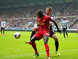 19.10.2013, St. James Park, New Castle, ENG, Premier League, ENG, Premier League, Newcastle United vs FC Liverpool, 8. Runde, im Bild Liverpool's Mamadou Sakho, action against Newcastle United // during the English Premier League 8th round match between Newcastle United and Liverpool FC St. James Park in New Castle, Great Britain on 2013/10/19. EXPA Pictures © 2013, PhotoCredit: EXPA/ Propagandaphoto/ David Rawcliffe<br /> <br /> *****ATTENTION - OUT of ENG, GBR*****