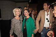 ELISABETH ESTEVE; KIM MURDOCH,; MARK-FRANCIS VANDELLI; The LAPADA Art & Antiques Fair - private view, Berkeley Sq. London. 12  September 2016