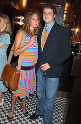CHARLES BEAMISH and his sister LEONORA BEAMISH at the opening party of the new Frankie's Italian Bar and Grill hosted by Frankie Dettori, Marco Pierre White and Edward Taylor at 68 Chiswick High Road, London W4 on 1st September 2005.<br /><br />NON EXCLUSIVE - WORLD RIGHTS