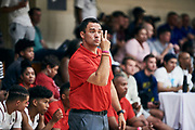 NORTH AUGUSTA, SC. July 10, 2019. Team WhyNot coach at Nike Peach Jam in North Augusta, SC. <br /> NOTE TO USER: Mandatory Copyright Notice: Photo by Jon Lopez / Nike