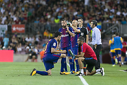 August 7, 2017 - Barcelona, Spain - Sergio Busquets of FC Barcelona during the match between FC Barcelona vs Chapecoense, for the Joan Gamper trophy, played at Camp Nou Stadium on 7th August 2017 in Barcelona, Spain. (Credit: Urbanandsport / NurPhoto) (Credit Image: © Urbanandsport/NurPhoto via ZUMA Press)
