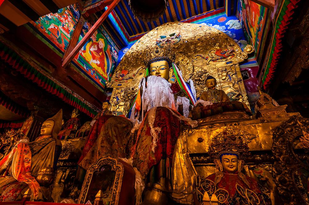 Sera Monastery, outside Lhasa, Tibet (Xizang), China. It is one of the 'great three' Gelukpa university monasteries of Tibet.