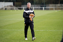 November 2, 2017 - Mechelen, BELGIUM - Mechelen's assistant coach Sven Swinnen pictured in action during a training session after a press conference of Belgian first division soccer team KV Mechelen, in Mechelen, Thursday 02 November 2017, to present their new head coach. Last week the club dismissed coach Ferrera and appointed Serbian Jankovic for a second stint, he already coached the club from May 2014 to September 2016. BELGA PHOTO JASPER JACOBS (Credit Image: © Jasper Jacobs/Belga via ZUMA Press)