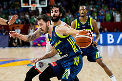 Goran Dragic of Slovenia vs Ricky Rubio of Spain during basketball match between National Teams of Slovenia and Spain at Day 15 in Semifinal of the FIBA EuroBasket 2017 at Sinan Erdem Dome in Istanbul, Turkey on September 14, 2017. Photo by Vid Ponikvar / Sportida
