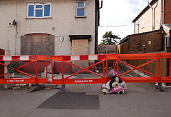 © Licensed to London News Pictures. 03/04/2013.Nottingham, UK. The home of the Philpotts and location of  the fire that took the lives of six children on Victory Road, DerbyThree individuals, Mairead Philpott, Michael Philpott and Paul Mosley are sentenced for manslaughter of 6 children in Derby 2012 at Nottingham Crown Court. The Judge has decided more time is needed meaning the sentencing has been postponed until 10:30am tomorrow (Thursday 4th April 2013)   .   Photo credit : Tom Maddick/LNP