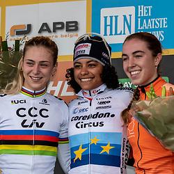 2018-11-24: Cycling: CX Worldcup: Koksijde: Podium U23 women