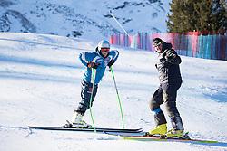 28.12.2016, Deborah Compagnoni Rennstrecke, Santa Caterina, ITA, FIS Ski Weltcup, Santa Caterina, Abfahrt, Herren, Streckenbesichtigung, im Bild Dominik Schwaiger (GER) // Dominik Schwaiger of Germany#7 during the course inspection for the men's Downhill of FIS Ski Alpine World Cup at the Deborah Compagnoni race course in Santa Caterina, Italy on 2016/12/28. EXPA Pictures © 2016, PhotoCredit: EXPA/ Johann Groder