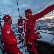 Leg Zero, St. Malo - Lisbon:  on board xx, . Photo by Jen Edney/Volvo Ocean Race. 14August, 2017
