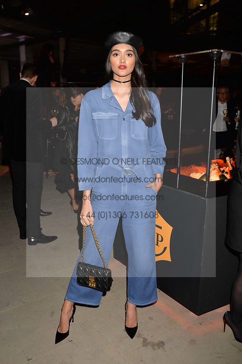 Neelam Gil at the Veuve Clicquot Widow Series launch party curated by Carine Roitfeld and CR Studio held at Islington Green, London England. 19 October 2017.
