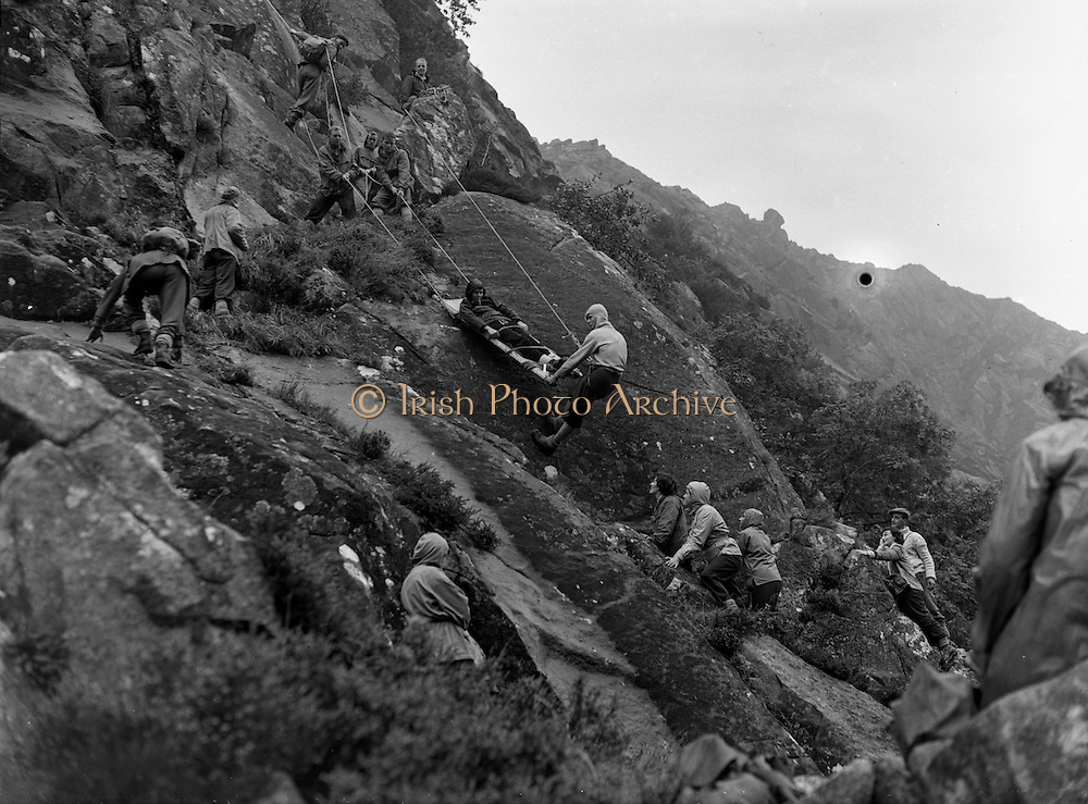22/09/1957<br /> 09/22/1957<br /> 22 September 1957<br /> Irish Mountaineering Club on outing at Glendalough, Co. Wicklow, special for Guinness.