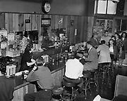 Y-481010-06.  Knotty Pine Tavern, 1321 SW Washington, Portland. Presently occupied by Scooter McQuades Cafe & Bar. Oct 10, 1948
