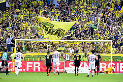 May 6, 2018 - Nantes, France, France - reaction des supporters de Nantes apres le penalty manque de SALA Emiliano  (Credit Image: © Panoramic via ZUMA Press)