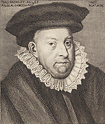 Thomas Bromley (1530-1587) English lawyer and statesman. Expert on property law; served on Edward VI's regency council; Lord Chancellor from 1579;  presided over the commission which tried Mary Queen of Scots in 1586.