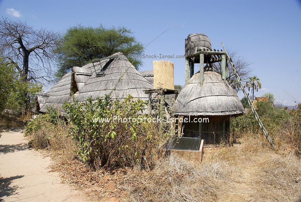 Tanzania wildlife safari thatch covered lodge