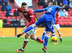 Milan Djuric of Bristol City battles with Adam Webster of Ipswich Town - Mandatory by-line: Nizaam Jones/JMP - 17/03/2018 - FOOTBALL - Ashton Gate Stadium- Bristol, England - Bristol City v Ipswich Town - Sky Bet Championship
