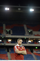 10 June 2013; Jamie Heaslip, British & Irish Lions, during a stadium visit ahead of their game against Combined Country on Tuesday. British & Irish Lions Tour 2013, Stadium Visit, Hunter Stadium, Newcastle, NSW, Australia. Picture credit: Stephen McCarthy / SPORTSFILE