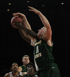 November 14, 2017 - Oxford, Ohio, U.S - Wright State Raiders center Loudon Love (11) fights for a rebound  on Tue Nov 14, 2017. During play at Miami (Oh) Redhawks. (Credit Image: © Ernest Coleman via ZUMA Wire)