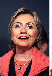 © Nicolas Khayat/ABACA. 38382-4. New York City-NY-USA, 29/09/2002. Senator Hillary Rodham Clinton pictured during a press conference held in New York today to call on Congress and the Bush administration to extend unemployement benefits for America's workers.