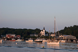 Evening light boats in Boothbay Harbor, Maine.
