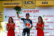 Podium, Rafal Majka (POL - Bora - Hansgrohe) polka dots jersey during the 105th Tour de France 2018, Stage 15, Millau - Carcassonne (181,5 km) on July 22th, 2018 - Photo Luca Bettini / BettiniPhoto / ProSportsImages / DPPI