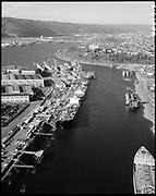 """Ackroyd 20013-02 """"Swan Island"""" """"December 30, 1976"""" (Lagoon. ships Chevron Louisiana and Sister Katingo are at berths)"""