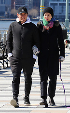 Ewan McGregor and girlfriend Mary Elizabeth Winstead share a passionate kiss - 1 March 2020