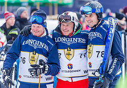 26.01.2019, Streif, Kitzbühel, AUT, FIS Weltcup Ski Alpin, KitzCharityTrophy, im Bild v.l. Hias Leitner (Kitz Legenden), Marc Girardelli (Kitz Legenden), Matthias Lanzinger (Kitz Legenden) // f.l. Hias Leitner (Kitz Legenden) Marc Girardelli (Kitz Legenden) Matthias Lanzinger (Kitz Legenden) during the KitzCharityTrophy at the Streif in Kitzbühel, Austria on 2019/01/26. EXPA Pictures © 2019, PhotoCredit: EXPA/ Stefan Adelsberger