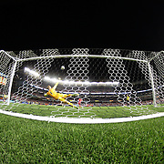 Daniel Sturridge, Liverpool, blast over the bar as Manchester City goalkeeper Joe Hart divers to his left during the penalty shoot out during the Manchester City Vs Liverpool FC Guinness International Champions Cup match at Yankee Stadium, The Bronx, New York, USA. 30th July 2014. Photo Tim Clayton