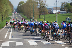 The peloton rides in the first kilometers during Liege-Bastogne-Liege - a 136 km road race, between Bastogne and Ans on April 22, 2018, in Wallonia, Belgium. (Photo by Balint Hamvas/Velofocus.com)