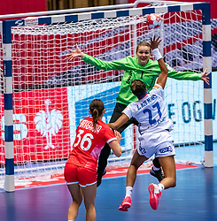 Anna Sedoykina of Russia in action during the Women's EHF Euro 2020 match between France and Russia at Jyske Bank BOXEN on december 11, 2020 in Kolding, Denmark (Photo by RHF Agency/Ronald Hoogendoorn)