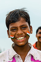 Indians celebrating their Independence Day on the Rajpath, New Delhi, India.