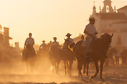 In the days of Pilgrimage, motor vehicles are prohibited in the entire village and the horse is the undisputed king, with thousands of them in the streets. El Rocio is converted by a few days in the highest concentration of horses in Europe.