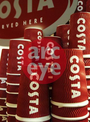 Costa Coffee Paper cups in store