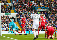 Leeds United's Patrick Bamford (not pictured) hits the post with a shot<br /> <br /> Photographer Alex Dodd/CameraSport<br /> <br /> The EFL Sky Bet Championship - Leeds United v Nottingham Forest - Saturday 10th August 2019 - Elland Road - Leeds<br /> <br /> World Copyright © 2019 CameraSport. All rights reserved. 43 Linden Ave. Countesthorpe. Leicester. England. LE8 5PG - Tel: +44 (0) 116 277 4147 - admin@camerasport.com - www.camerasport.com