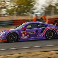 #57, Porsche 911 RSR, Team Project 1, drivers: Jeroen Bleekemolen, Felipe Fraga, Ben Keating, LM GTE Am, at the Le Mans 24H, 2020, on 20 September 2020