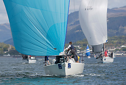 Pelle P Kip Regatta 2019 Day 1<br /> <br /> Light and bright conditions for the opening racing on the Clyde keelboat season<br /> <br /> GBR4757R, Moonstruck Too, Gordon Lawson, Port Edgar, J122