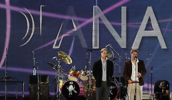 File photo dated 30/6/2007 of Prince William (left) and Prince Harry on stage at Wembley Stadium, north-west London, during the star-studded pop concert in memory of Diana, Princess of Wales.
