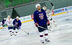Andrej Tavzelj during practice session of Slovenian National Ice Hockey team first time in Arena Stozice before 2012 IIHF World Championship DIV I Group A in Slovenia, on April 13, 2012, in Arena Stozice, Ljubljana, Slovenia. (Photo by Vid Ponikvar / Sportida.com)