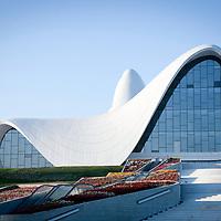 Baku, Azerbaijan 26 July 2012<br /> Heydar Aliyev Centre, designed by Zaha Hadid architects.<br /> Photo: Ezequiel Scagnetti