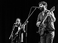 Adam Olenius and Ted Malmros of Swedish indie-pop band Shout Out Louds at Batschkapp in Frankfurt