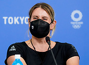 Luuka Jones speaks at a press conference during the Tokyo 2020 Olympic Games. Tuesday 27th July 2021. Mandatory credit: © John Cowpland / www.photosport.nz
