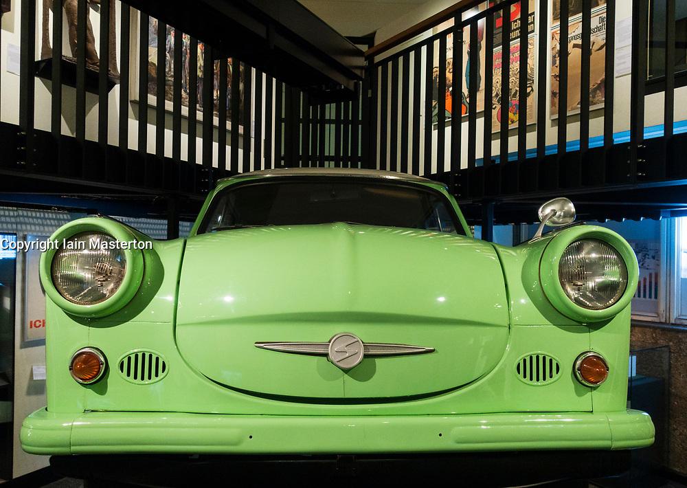 East German Trabant  car on display at Berlin History Museum , Germany,