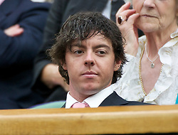 28.06.2011, Wimbledon, London, GBR, WTA Tour, Wimbledon Tennis Championships, im Bild Golfer Rory McIlroy watches the Ladies' Singles Quarter-Final match on day eight of the Wimbledon Lawn Tennis Championships at the All England Lawn Tennis and Croquet Club. EXPA Pictures © 2011, PhotoCredit: EXPA/ Propaganda/ David Rawcliffe +++++ ATTENTION - OUT OF ENGLAND/UK +++++ // SPORTIDA PHOTO AGENCY