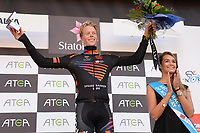 Podium, Andreas ERLAND (Nor) Black Jersey during the Artic Race Norway 2014, Stage 2, Honningsvag (Nor)- Alta (Nor) (207km) on August 15, 2014. Photo Tim de Waele / DPPI