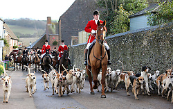 The East Kent hunt sets off at the start of the traditional Boxing Day hunt at Elham, Kent, Wednesday, 26th  December 2012  Photo by: Stephen Lock / i-Images