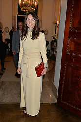 TANIA FARES at a party to kick off London Fashion Week hosted by US Ambassador Matthew Barzun and Mrs Brooke Brown Barzun with Alexandra Shulman in association with J.Crew hrld at Winfield House, Regent's Park, London on 18th September 2015.