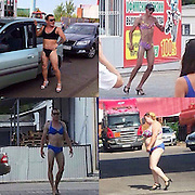 """A gas station in Tatarstan gives free gas to bikini wearing customers<br /> <br /> In three cities of Tatarstan, """"refill for a bikini"""" campaign was held. It was organized by a network of the local gas stations.<br /> <br /> Participants in bathing suits and high heels drove to the gas stations for a free refill. Among them were men, who proudly marched to the counter to get free gasoline. Lovers of freebies formed a long line of cars near gas station.<br /> <br /> The campaign lasted from noon to 3 pm and according to organizers, almost 200 vehicles participated in three hours.<br /> ©Exclusivepxi Media"""